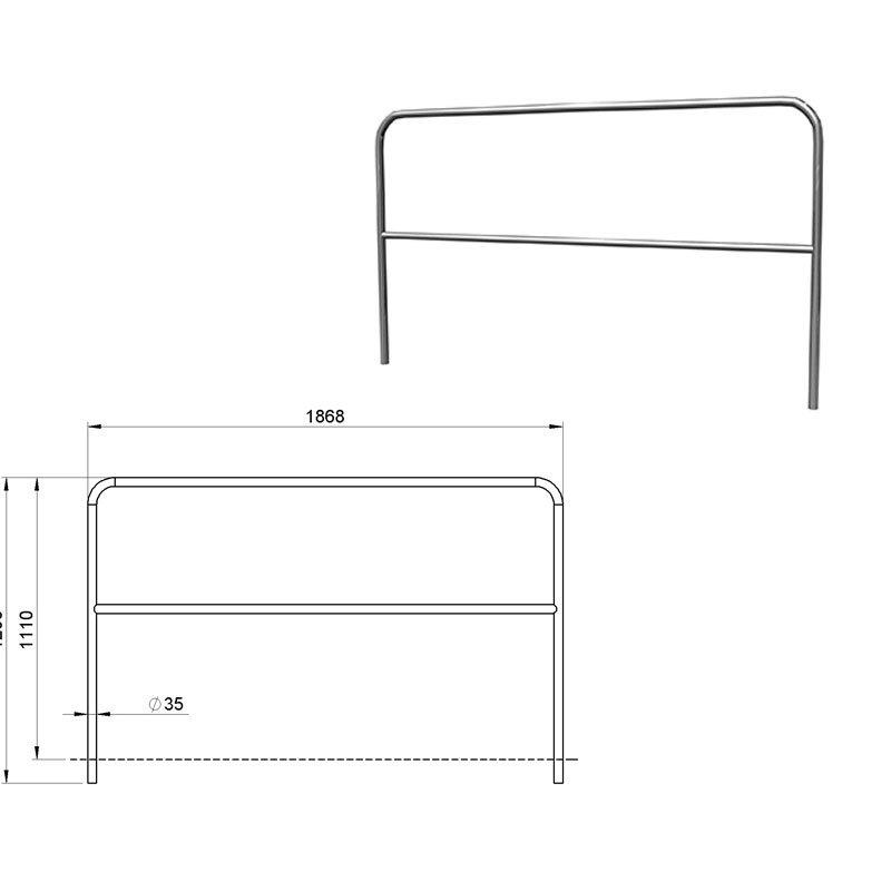 alustage aluminium gel nder f r b hnenpodeste sba 05. Black Bedroom Furniture Sets. Home Design Ideas