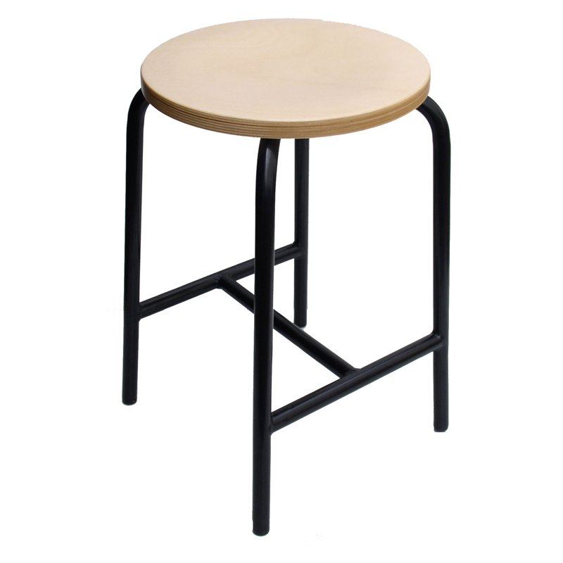 h brace stool model 3155 heigt 55 cm by lotz 64 90. Black Bedroom Furniture Sets. Home Design Ideas