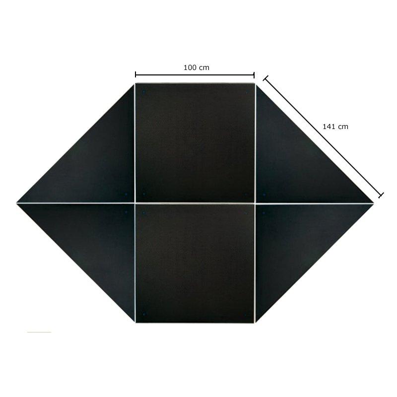 Revostage HexagonalBühne, Höhe 40 cm, Teppichoberfläc