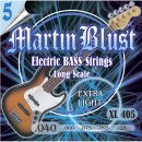 Martin Blust E-Bass Saiten XL405-5 Extra Light - 5-Saiter...