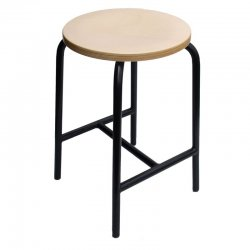 H Brace Stool Model 3155, Heigt 55 cm, by Lotz